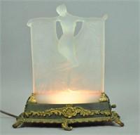 R. LALIQUE OPALESCENT 'SUZANNE' GLASS FIGURE