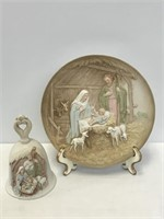 Nativity Plate and Bell