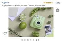FUJiFLIM instax mini 9 lime green  Opened box