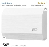 Appears New NuTone LA11WH Decorative Wire Door