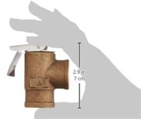 30 PSI Pressure Relief Valve Bronze 3/4 inch
