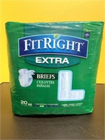 New Size Large Fit Right Extra Adult Briefs With