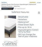 SAFE REST Mattress Protector  Condition: New