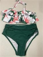 New Girls Size 10 Flounce Top High Rise Bikini