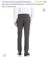 New Kenneth Cole Reaction Flex Waistband Slim Fit