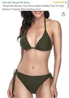 New Tempt Me Women's Tie On Bikini Size Large