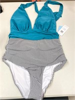 New Cupshe Halter Style One Piece Swimsuit Size