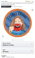 Crave Flavored Coffee Pods, Compatible with 2.0
