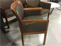Wood and Fabric Chairs