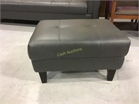 Gray Faux Leather Couch Ottomans Black Legs