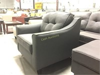 Gray Chair w/Tufted back