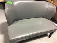 Couch, Gray Faux Leathert
