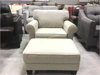Beigh Chair & Ottoman