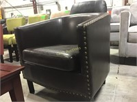Chair, Brown Leather