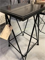 Table, Black Aluminum