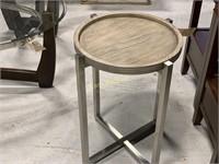 Round Table w/ Gray Veneer Wood Top