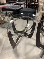2 Round End Tables & Oval Coffee Table