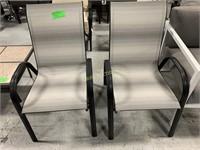 "2 Tan Patio Chairs (22 1/4"" x 36"")"