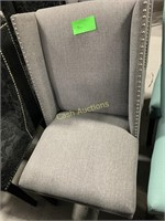 2 Gray Microfiber Chairs