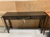 """3 Drawer Side Table 55"""" x 14"""" x 32 3/4"""""""