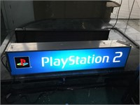 Lighted Vintage PS2 Store Promo Sign