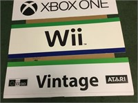 Wii, Xbox, Nintendo Foam Board Signs