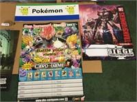 Promo Poster Lot-Pokemon, Transformers & More
