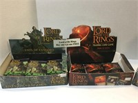 (3) Boxes of Lord of the Rings Cards