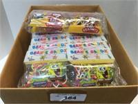Large Box of Beanie Bandz- Peanuts and Sponge Bob