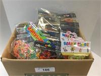 Large Box of Silly Bandz and Beanie Bandz Various