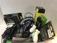 Large Lot of Xbox , Controllers, Power Supplies &