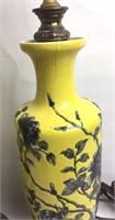 Pr Oriental Porcelain Floral Lamps