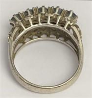 Blue Sapphire And Semi Precious Stone Ring