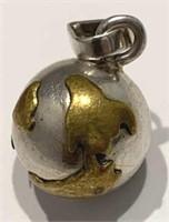 Silver Globe Pendant