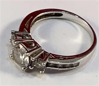 Sterling Ring w CZ Stone