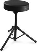 Encore Basics Drum Throne - Black Steel w/ Thick