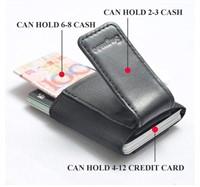 Men's Black Minimalist Money Clip Credit Card