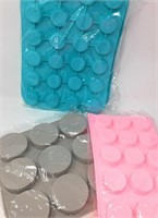 Lot of Round Silicone Molds, Bakeware, Candy, 2