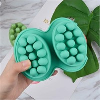 2 Pcs Silicone Massage Bar Soap Molds - Handmade