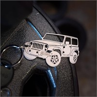 Wrenches & Bones Laser Cut Stainless Steel Key