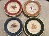 Set of 8 Fruit/Nut Salad Plates