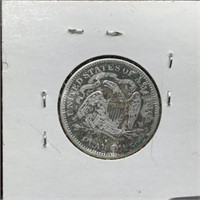 1877-S SEATED LIBERTY SILVER QUARTER