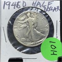 1946-D SILVER HALF DOLLAR