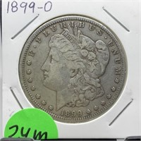 1899-O MORGAN SILVER DOLLAR