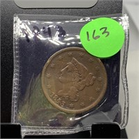 1843 LARGE CENT COIN