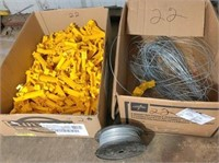 2-boxes electric fence insulators & wire