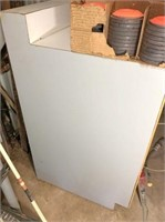 "work table 108""x33x42"", Formica top & wired w/4"