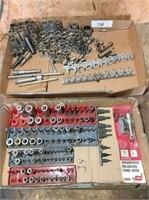 1-box various metric sockets & 1-box various SAE