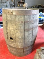 small whiskey barrel, Galvanized bucket & cow bell