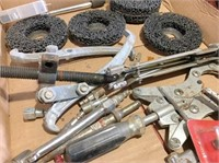 air ratchet, air chisel, grinding wheels & misc.
